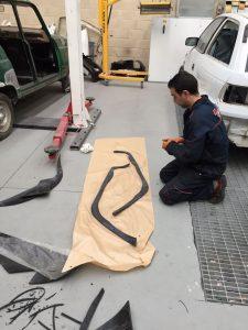 Preparación aletines Jeep Wrangler